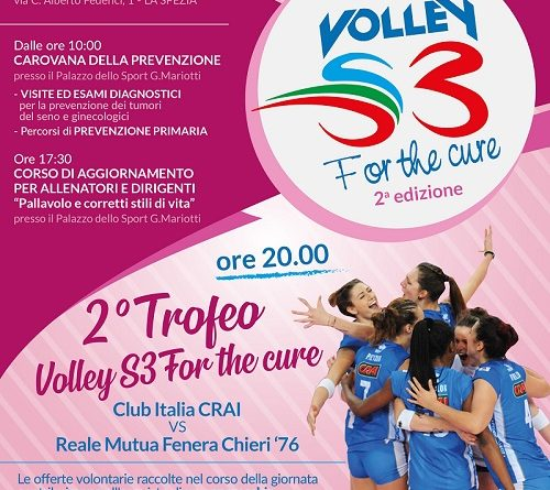 "Martedì a La Spezia ""Volley for the cure"" con la Komen Italia. In serata Club Italia contro Chieri!"