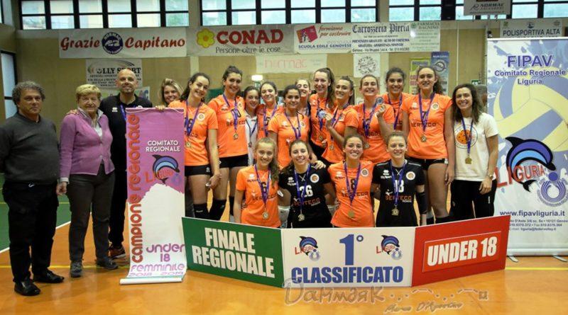 FINALE REGIONALE UNDER 18: Serteco Volley School e Colombo Genova in trionfo!
